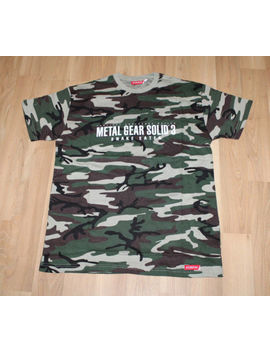 Metal Gear Solid 3 Snake Eater Rare Old Promo T Shirt Size L Ps2 Konami Xbox 360 by Ebay Seller