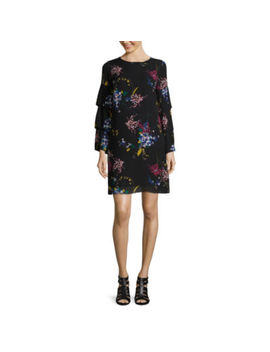 Worthington Long Sleeve Shift Dress Talls by Worthington
