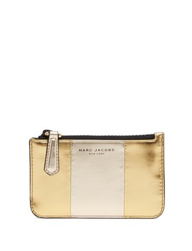Bicolor Metallic Leather Key Pouch by Marc Jacobs