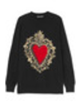 Intarsia Wool Blend Sweater by Dolce & Gabbana