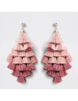 Pink Ombre Tassel Drop Earrings                                  Pink Ombre Tassel Drop Earrings by River Island