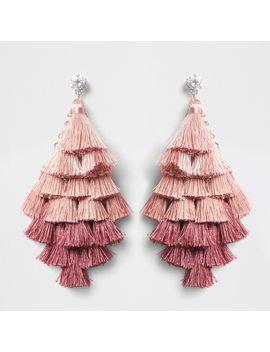 Pink Ombre Tassel Drop Earrings                                  Pink Ombre Tassel Drop Earrings by River Island