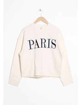 Embroidered Paris Pullover by & Other Stories