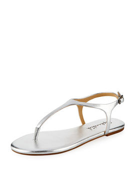 Mason Leather Flat Sandal by Splendid