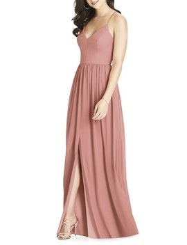 Spaghetti Strap Chiffon Gown by Dessy Collection