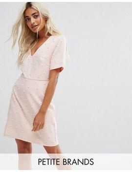 Fashion Union Petite – Kleid Mit V Ausschnitt Und Perlenverzierung by Fashion Union Petite