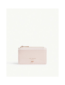 Patent Leather Zipped Card Holder by Ted Baker