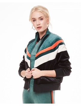 Colorblock Lightweight Velour Palisades Jacket by Juicy Couture