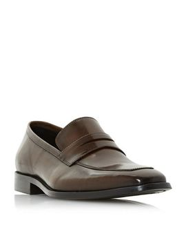 Dune   Brown 'philipe' Chisel Toe Saddle Loafers by Dune