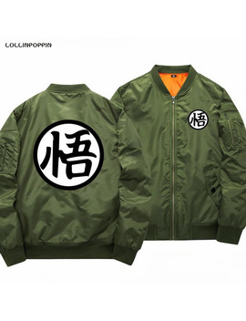 Dragon Ball Bomber Jacket Men Son Goku Printed Baseball Jackets New 2017 Mens Aviator Jackets & Coats Free Shipping by Lollinpoppin Men's Store