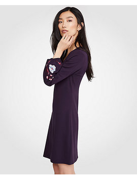 embroidered-sleeve-flare-dress by ann-taylor