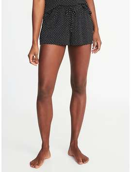 Drawstring Jersey Lounge Shorts For Women by Old Navy