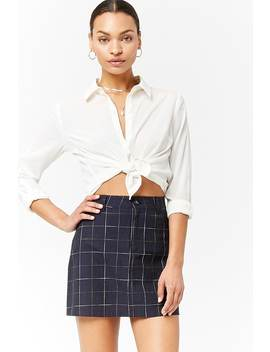 Grid Mini Skirt by Forever 21
