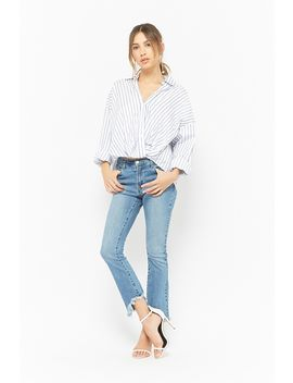 Twist Front Striped Shirt by Forever 21
