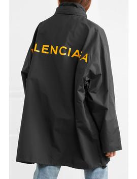 Oversized Printed Shell Windbreaker Jacket by Balenciaga