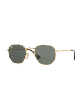 Square Metal Keyhole Sunglasses by Ray Ban