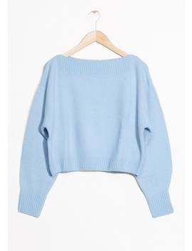 Cropped Boatneck Sweater by & Other Stories