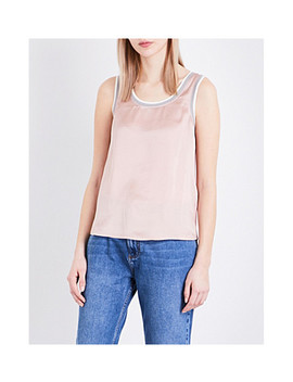 Trip Silk Satin And Jersey Top by Claudie Pierlot