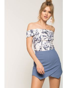 Chambray Ponte Skort by A'gaci