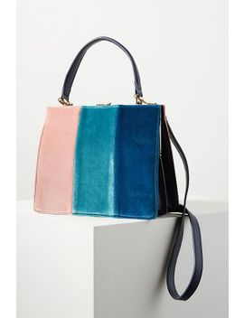 Colourblock Velvet Tote Bag by Anthropologie