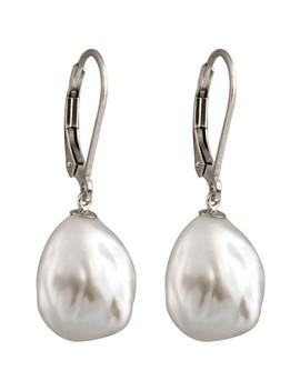 Keshi 11 12mm Pearl Drop Earrings by Splendid Pearls