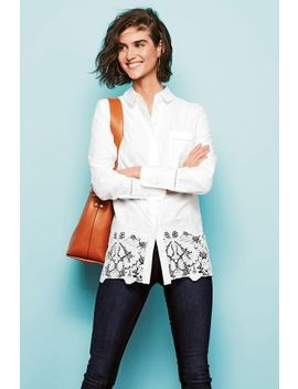 White Broderie Shirt by Next