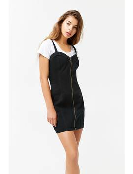 Denim Pull Ring Mini Dress by Forever 21