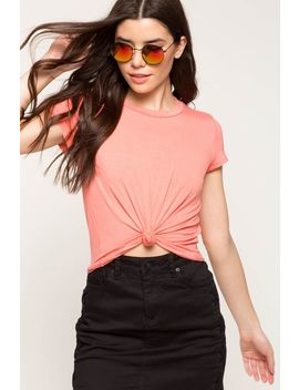 The Knot Front Crop Tee by A'gaci