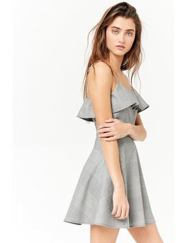 Glen Plaid Flounce Skater Dress by Forever 21
