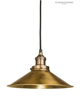 Culinary Concepts Antique Brass Prohibition Pendant by Next