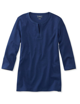 L.L.Bean Tee, Three Quarter Sleeve Splitneck Tunic by L.L.Bean