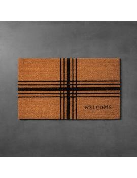 "Plaid Coir Doormat (18""X30"")   Hearth & Hand™ With Magnolia by Hearth & Hand™ With Magnolia"