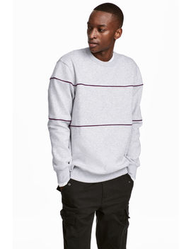 Sweatshirt With Piping by H&M