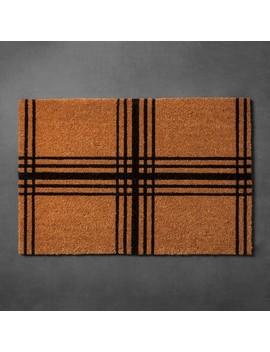 "Plaid Coir Estate Doormat (23""X35"")   Hearth & Hand™ With Magnolia by Hearth & Hand™ With Magnolia"