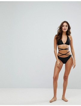 """<Font Style=""""Vertical Align: Inherit;""""><Font Style=""""Vertical Align: Inherit;"""">Wolf & Whistle Bikini Top With Strappy Design</Font></Font> by  Wolf & Whistle"""