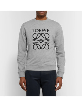 Slim Fit Embroidered Loopback Cotton Jersey Sweatshirt by Loewe