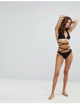 """<Font Style=""""Vertical Align: Inherit;""""><Font Style=""""Vertical Align: Inherit;"""">Wolf & Whistle Bikini Bottoms With Strappy Design</Font></Font> by  Wolf & Whistle"""