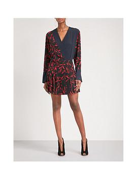 Pleated Printed Silk Mini Dress by Diane Von Furstenberg