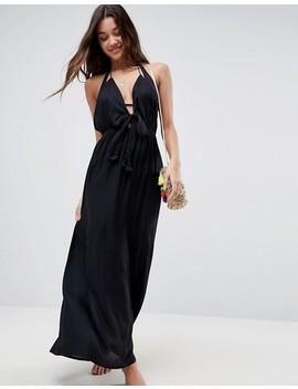 """<Font Style=""""Vertical Align: Inherit;""""><Font Style=""""Vertical Align: Inherit;"""">Asos Woven Maxi Beach Dress With Lace Front</Font></Font> by  Asos Collection"""