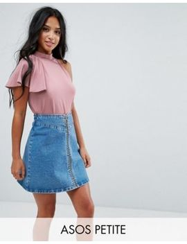 Asos Petite Top With Ruffle Detail by Asos Petite