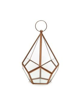Home Collection   Copper Diamond Lantern by Home Collection