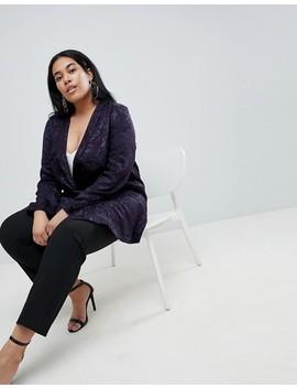 Asos Design Curve Soft Jacquard Blazer by Asos Design