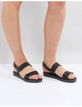 Raid Nova Black Sporty Sandals by Raid