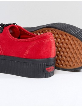 Vans Authentic Platform Trainers In Red by Vans