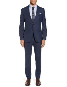Novan/Ben Trim Fit Plaid Wool Suit by Boss