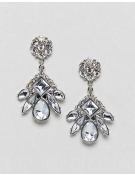 True Decadence Diamante Drop Earrings (+) by True Decadence
