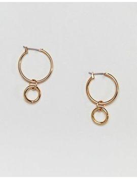 Monki Double Hoop Drop Earrings by Monki