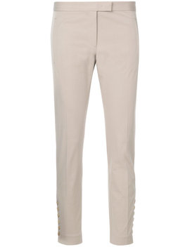 Button Detail Slim Fit Trousers by Joseph