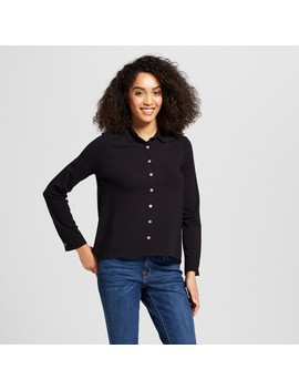 Women's Long Sleeve Knit Button Down Shirt   A New Day™ by A New Day™