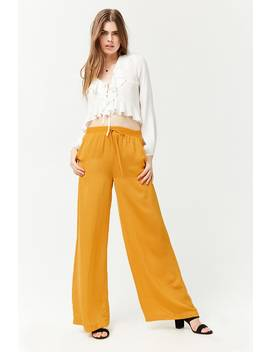 Satiny Wide Leg Trousers by Forever 21